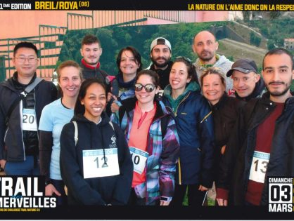 The iBV running team welcomes hikers at the Trail des Merveilles !